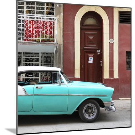Cuba Fuerte Collection SQ - Turquoise Classic Car in Havana-Philippe Hugonnard-Mounted Photographic Print
