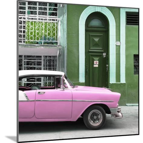 Cuba Fuerte Collection SQ - Pink Classic Car in Havana-Philippe Hugonnard-Mounted Photographic Print