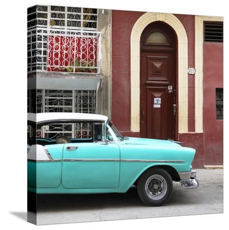 Cuba Fuerte Collection SQ - Turquoise Classic Car in Havana-Philippe Hugonnard-Stretched Canvas Print