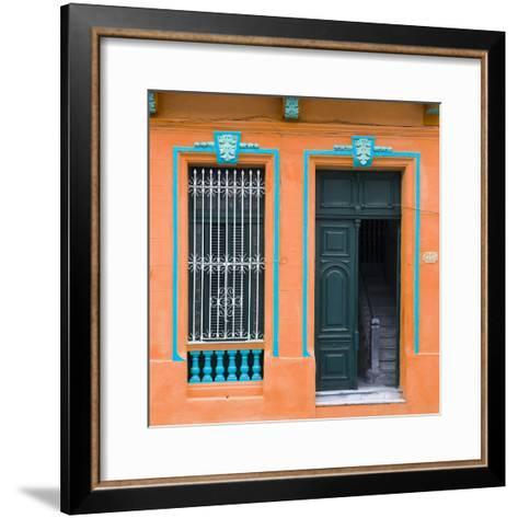 Cuba Fuerte Collection SQ - Havana Orange Façade-Philippe Hugonnard-Framed Art Print
