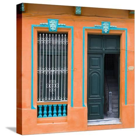 Cuba Fuerte Collection SQ - Havana Orange Façade-Philippe Hugonnard-Stretched Canvas Print