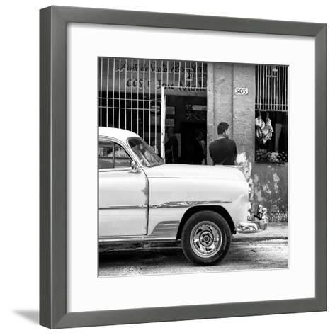 Cuba Fuerte Collection SQ BW - 305 Street Green Market-Philippe Hugonnard-Framed Art Print
