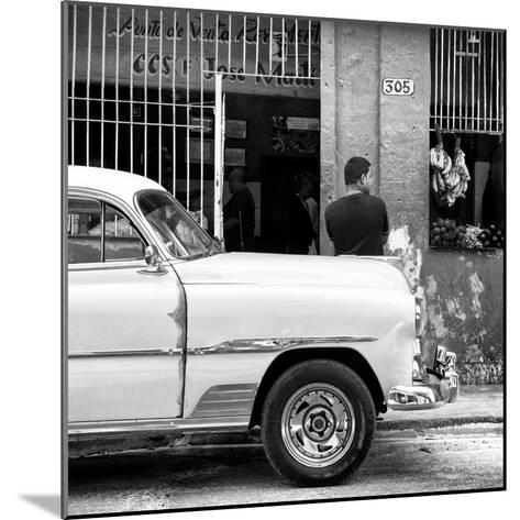 Cuba Fuerte Collection SQ BW - 305 Street Green Market-Philippe Hugonnard-Mounted Photographic Print