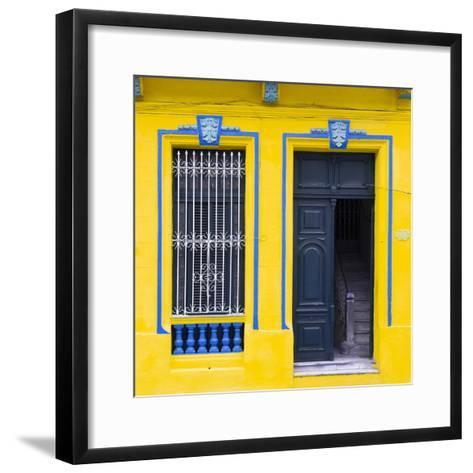 Cuba Fuerte Collection SQ - Havana Yellow Façade-Philippe Hugonnard-Framed Art Print