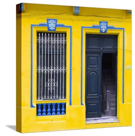 Cuba Fuerte Collection SQ - Havana Yellow Façade-Philippe Hugonnard-Stretched Canvas Print
