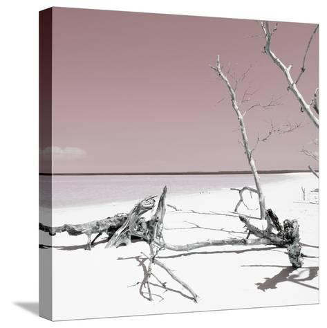 Cuba Fuerte Collection SQ - Wild White Sand Beach - Pastel Red-Philippe Hugonnard-Stretched Canvas Print