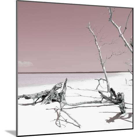 Cuba Fuerte Collection SQ - Wild White Sand Beach - Pastel Red-Philippe Hugonnard-Mounted Photographic Print