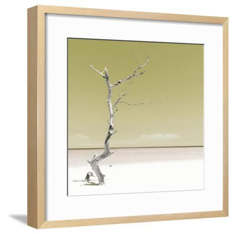 Cuba Fuerte Collection SQ - Alone on the White Sandy Beach - Pastel Yellow-Philippe Hugonnard-Framed Art Print