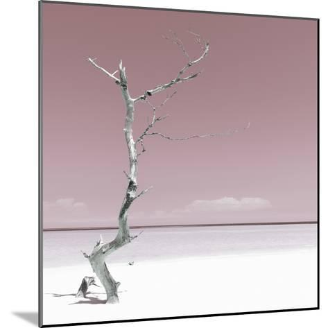 Cuba Fuerte Collection SQ - Alone on the White Sandy Beach - Pastel Red-Philippe Hugonnard-Mounted Photographic Print