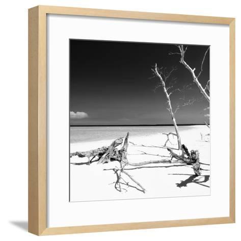 Cuba Fuerte Collection SQ BW - Wild White Sand Beach-Philippe Hugonnard-Framed Art Print