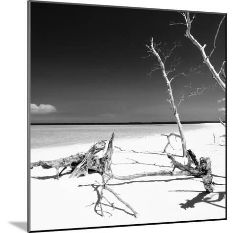 Cuba Fuerte Collection SQ BW - Wild White Sand Beach-Philippe Hugonnard-Mounted Photographic Print