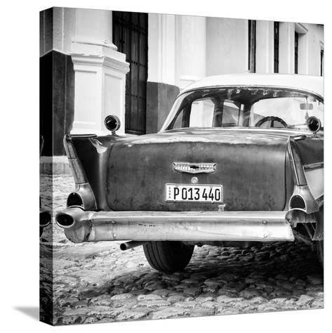 Cuba Fuerte Collection SQ BW - Vintage American Car-Philippe Hugonnard-Stretched Canvas Print