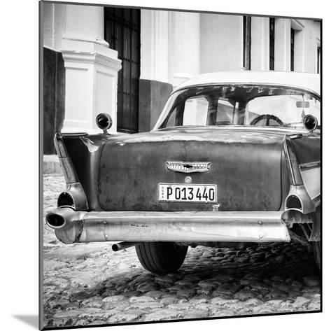 Cuba Fuerte Collection SQ BW - Vintage American Car-Philippe Hugonnard-Mounted Photographic Print