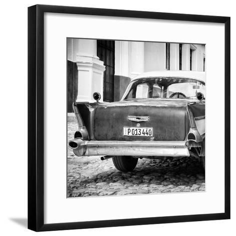 Cuba Fuerte Collection SQ BW - Vintage American Car-Philippe Hugonnard-Framed Art Print