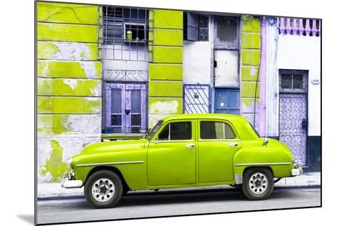 Cuba Fuerte Collection - Lime Green Classic American Car-Philippe Hugonnard-Mounted Photographic Print