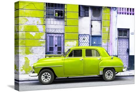 Cuba Fuerte Collection - Lime Green Classic American Car-Philippe Hugonnard-Stretched Canvas Print