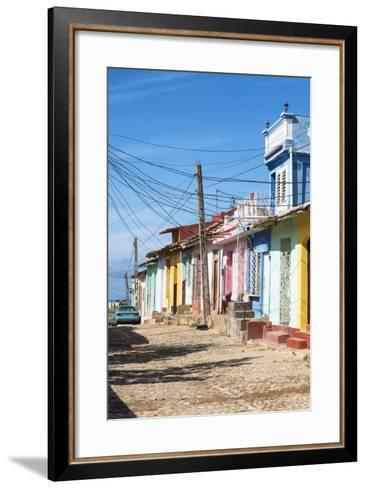 Cuba Fuerte Collection - Trinidad Colorful Street Scene II-Philippe Hugonnard-Framed Art Print