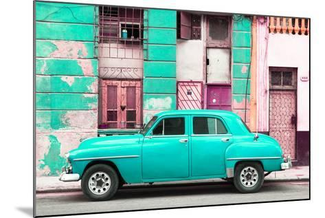 Cuba Fuerte Collection - Turquoise Classic American Car-Philippe Hugonnard-Mounted Photographic Print