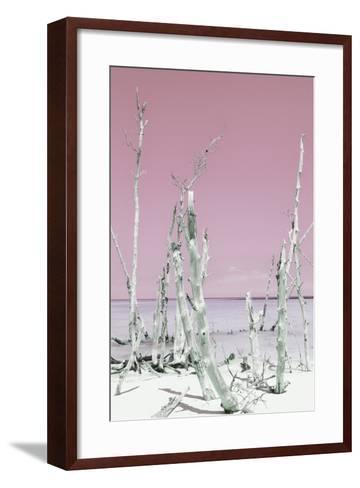 Cuba Fuerte Collection - Ocean Wild Nature II - Pastel Pink-Philippe Hugonnard-Framed Art Print