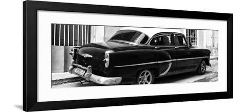 Cuba Fuerte Collection Panoramic BW - American Classic Car II-Philippe Hugonnard-Framed Art Print