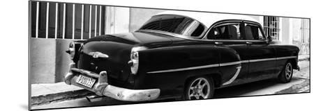 Cuba Fuerte Collection Panoramic BW - American Classic Car II-Philippe Hugonnard-Mounted Photographic Print