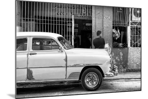 Cuba Fuerte Collection B&W - Havana Street Scene-Philippe Hugonnard-Mounted Photographic Print