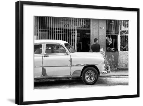 Cuba Fuerte Collection B&W - Havana Street Scene-Philippe Hugonnard-Framed Art Print