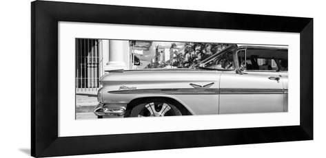 "Cuba Fuerte Collection Panoramic BW - Vintage Car ""Streetmachine"" II-Philippe Hugonnard-Framed Art Print"