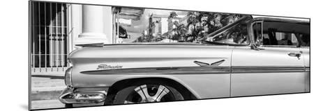 """Cuba Fuerte Collection Panoramic BW - Vintage Car """"Streetmachine"""" II-Philippe Hugonnard-Mounted Photographic Print"""