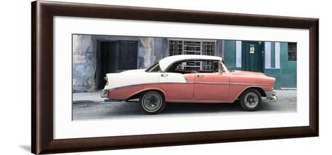 Cuba Fuerte Collection Panoramic - Coral Vintage American Car-Philippe Hugonnard-Framed Art Print