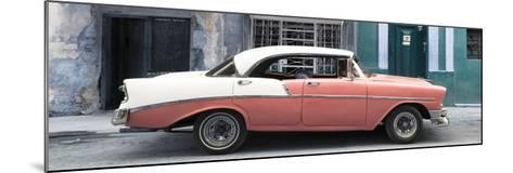 Cuba Fuerte Collection Panoramic - Coral Vintage American Car-Philippe Hugonnard-Mounted Photographic Print