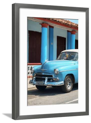 Cuba Fuerte Collection - Cuban Turquoise Car II-Philippe Hugonnard-Framed Art Print
