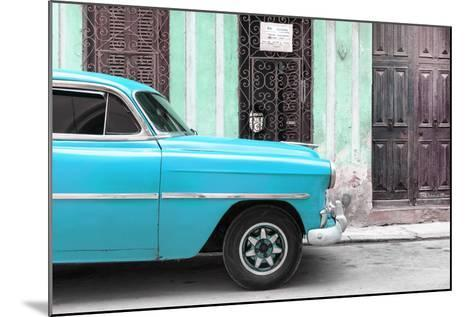 Cuba Fuerte Collection - Havana Turquoise Car-Philippe Hugonnard-Mounted Photographic Print