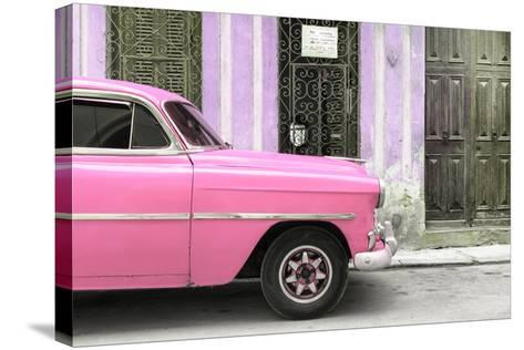 Cuba Fuerte Collection - Havana Pink Car-Philippe Hugonnard-Stretched Canvas Print