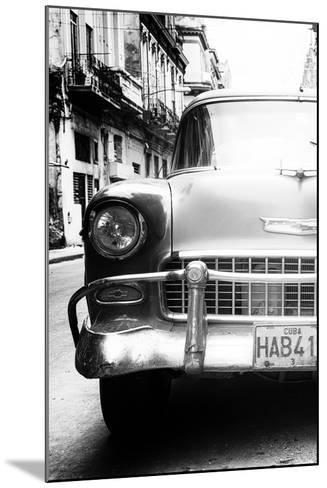 Cuba Fuerte Collection B&W - Old Chevrolet in Havana V-Philippe Hugonnard-Mounted Photographic Print