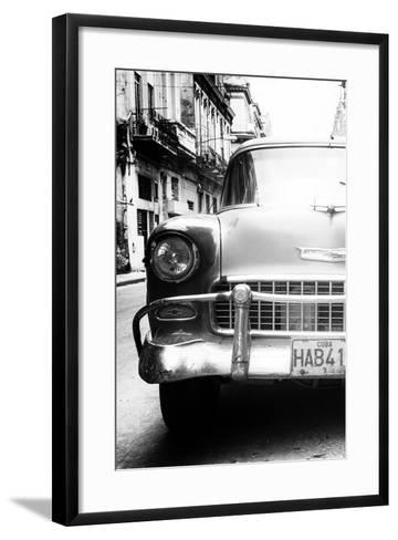 Cuba Fuerte Collection B&W - Old Chevrolet in Havana V-Philippe Hugonnard-Framed Art Print