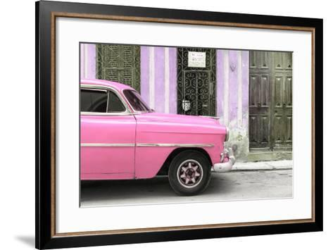 Cuba Fuerte Collection - Havana Pink Car-Philippe Hugonnard-Framed Art Print