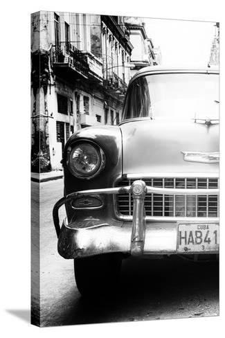 Cuba Fuerte Collection B&W - Old Chevrolet in Havana V-Philippe Hugonnard-Stretched Canvas Print