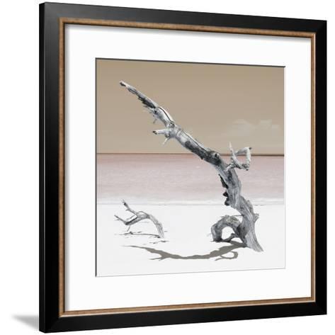 Cuba Fuerte Collection SQ - Solitary Tree - Pastel Orange-Philippe Hugonnard-Framed Art Print