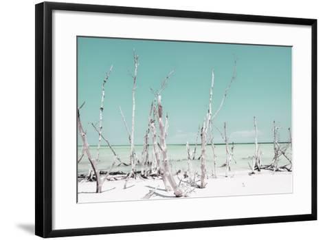 Cuba Fuerte Collection - Ocean Wild Nature - Pastel Coral Green-Philippe Hugonnard-Framed Art Print