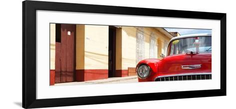 Cuba Fuerte Collection Panoramic - 1955 Chevy Red Car-Philippe Hugonnard-Framed Art Print
