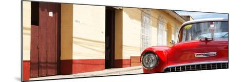 Cuba Fuerte Collection Panoramic - 1955 Chevy Red Car-Philippe Hugonnard-Mounted Photographic Print