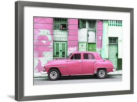 Cuba Fuerte Collection - Pink Classic American Car-Philippe Hugonnard-Framed Art Print