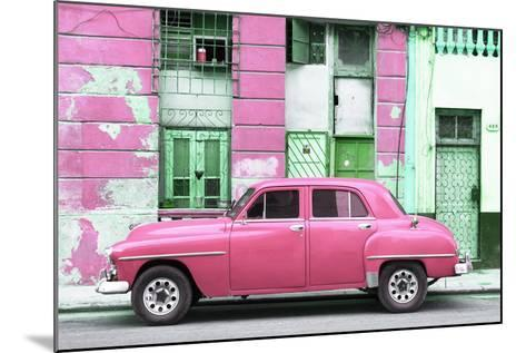 Cuba Fuerte Collection - Pink Classic American Car-Philippe Hugonnard-Mounted Photographic Print