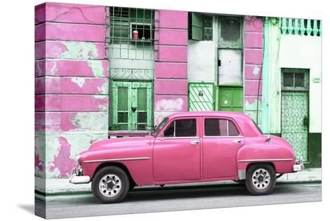 Cuba Fuerte Collection - Pink Classic American Car-Philippe Hugonnard-Stretched Canvas Print