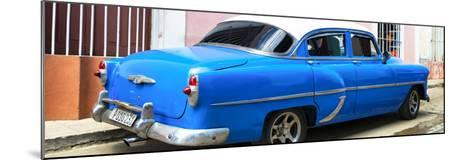 Cuba Fuerte Collection Panoramic - American Classic Blue Car-Philippe Hugonnard-Mounted Photographic Print