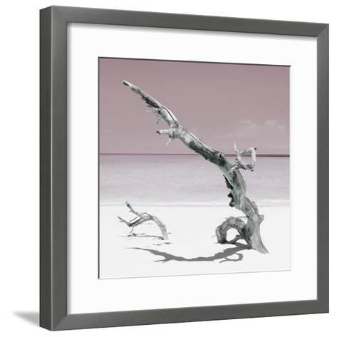 Cuba Fuerte Collection SQ - Solitary Tree - Pastel Red-Philippe Hugonnard-Framed Art Print