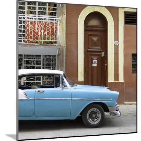 Cuba Fuerte Collection SQ - Blue Classic Car in Havana-Philippe Hugonnard-Mounted Photographic Print