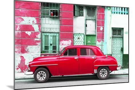 Cuba Fuerte Collection - Red Classic American Car-Philippe Hugonnard-Mounted Photographic Print