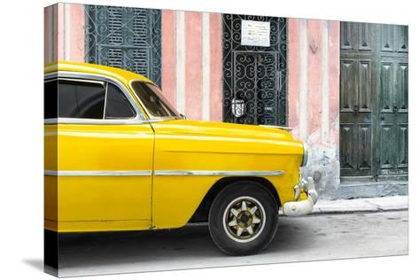 Cuba Fuerte Collection - Havana Yellow Car-Philippe Hugonnard-Stretched Canvas Print